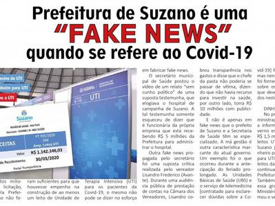 """Prefeitura de Suzano é """"FAKE NEWS"""" quando se refere ao Covid-19"""
