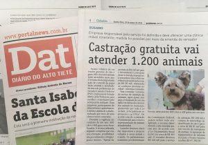 Castração atenderá até 1.200 animais