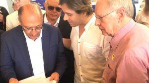 Governador Geraldo Alckmin, Vereador Lisandro Frederico e Deputado Estadual Estevam Galvão