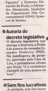 Medalha Antonio Marques Figueira na Câmara