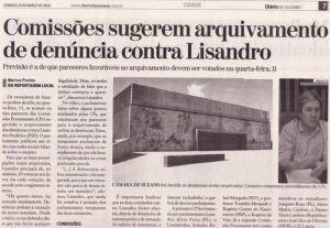 Comissões sugerem arquivamento de denúncia contra Lisandro