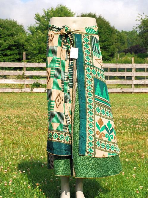 Wrap Skirt - Ankle Long - GREEN