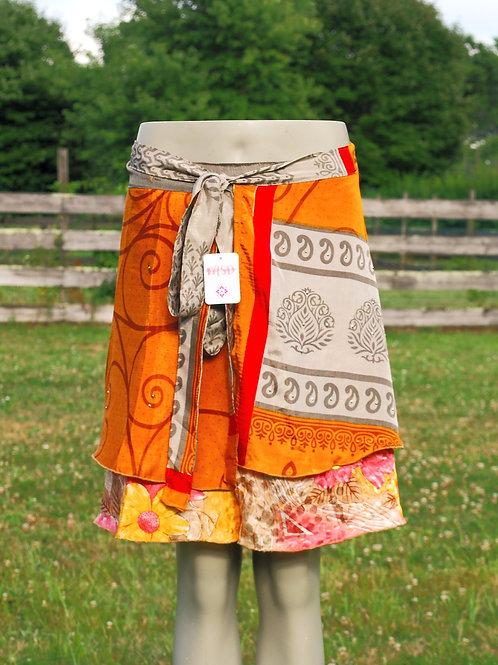 Wrap Skirt - Mini Short GOLD