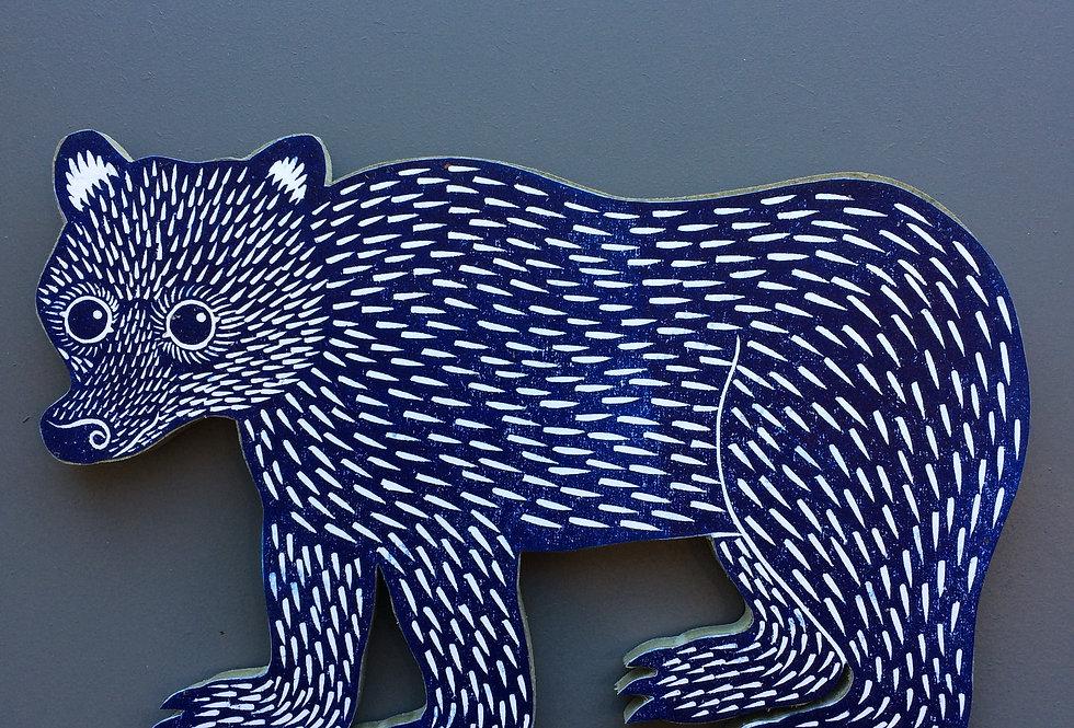 Blue Bear Cut Out