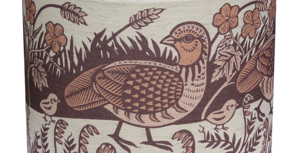 Partridge Lampshade (Burnt Orange)
