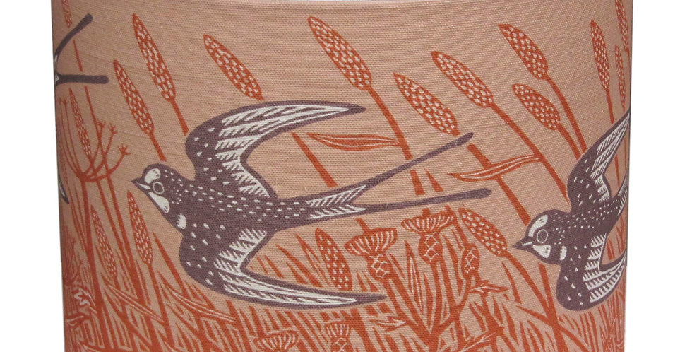 Swallow Lampshade (Burnt Orange)
