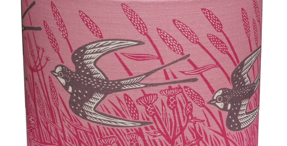 Swallow Lampshade (Raspberry)