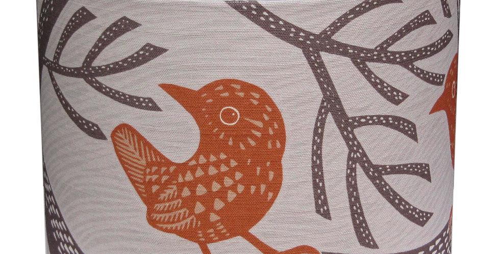Wren Lampshade (Burnt Orange)
