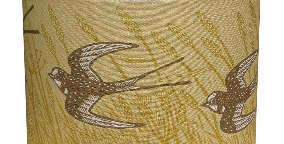 Swallow Lampshade (Ochre)