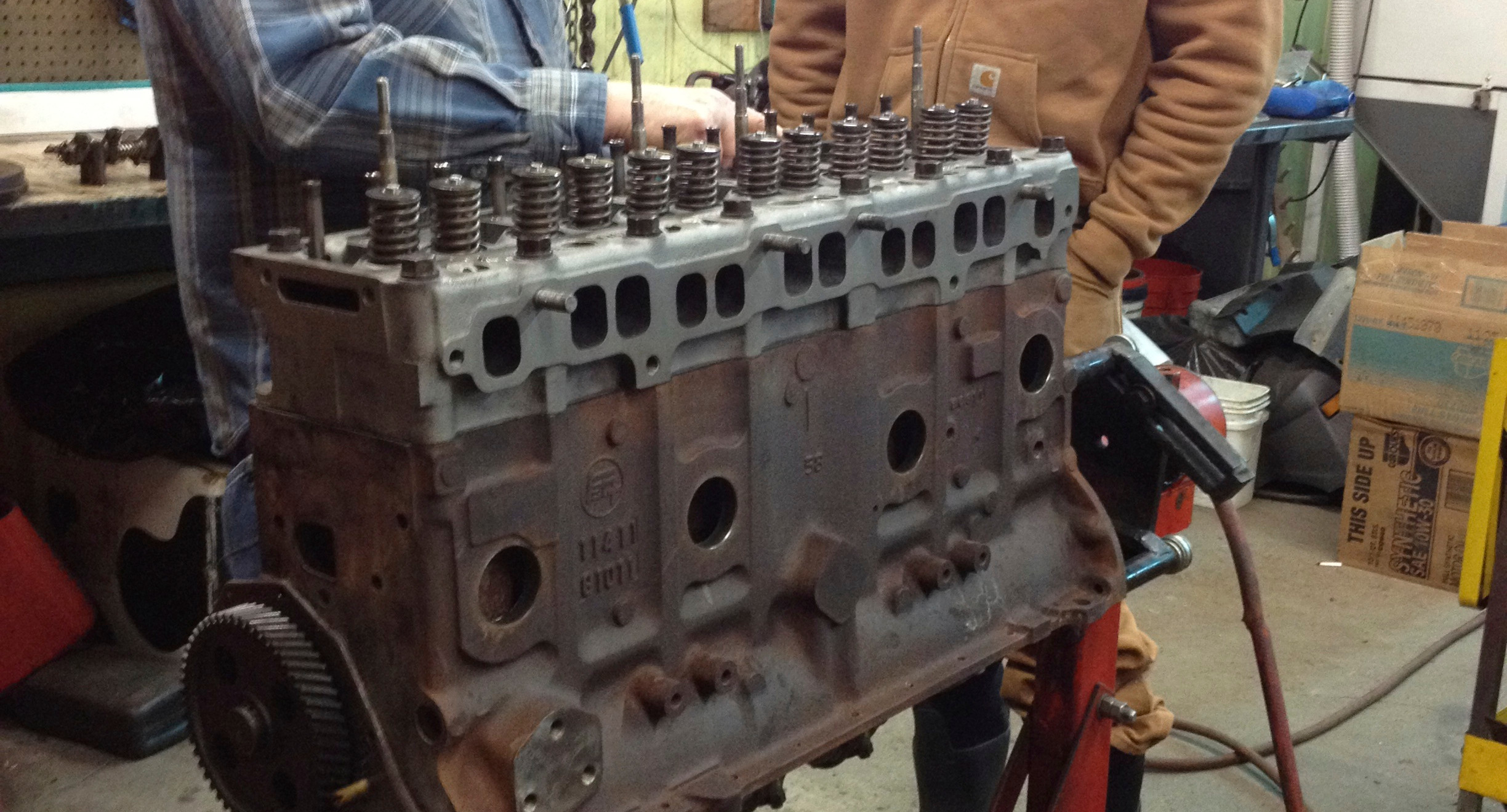 We did get a mechanic to rebuild the engine for us, as we had no clue how to even start