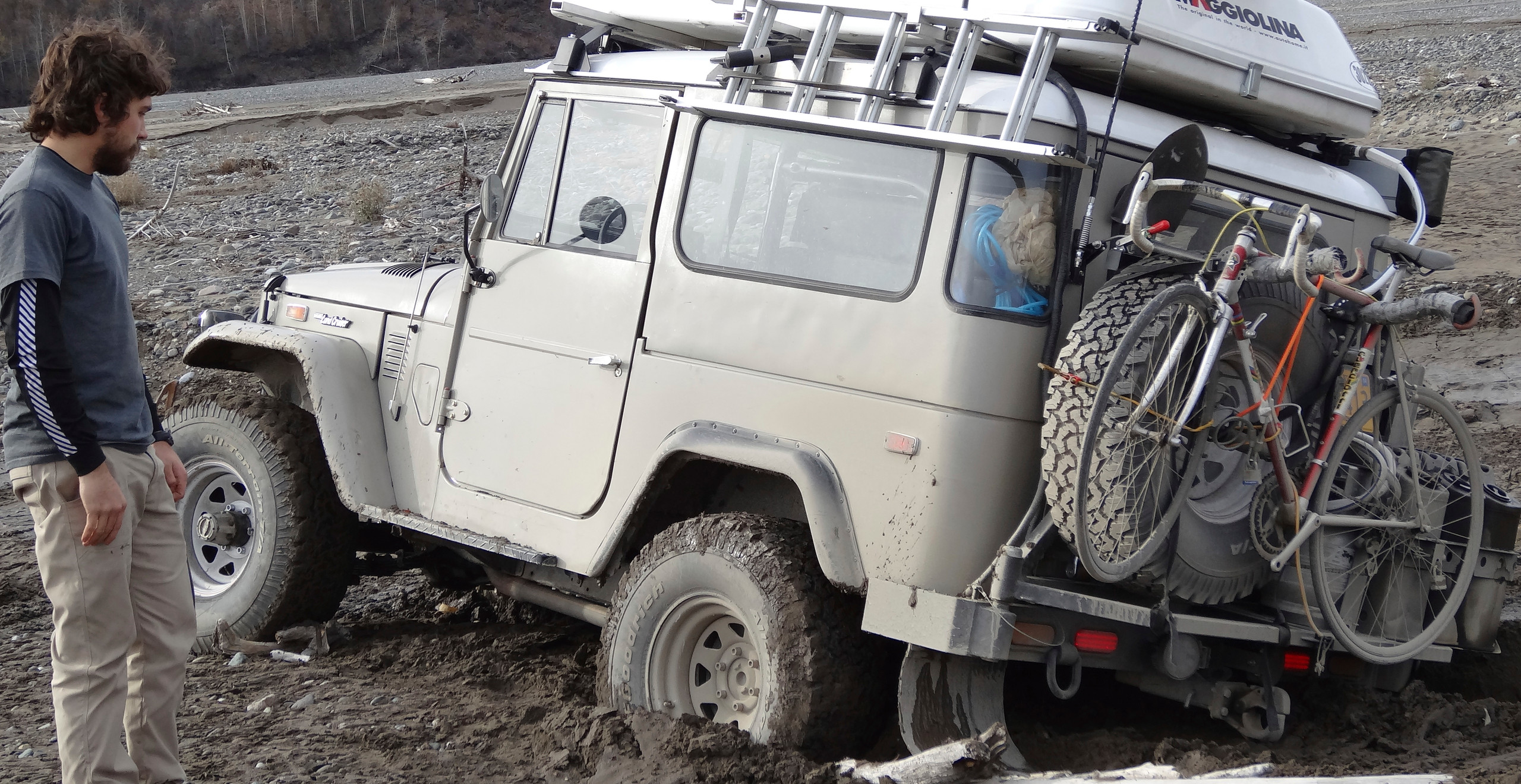 Off roading wasn't always a good idea in the middle of nowhere
