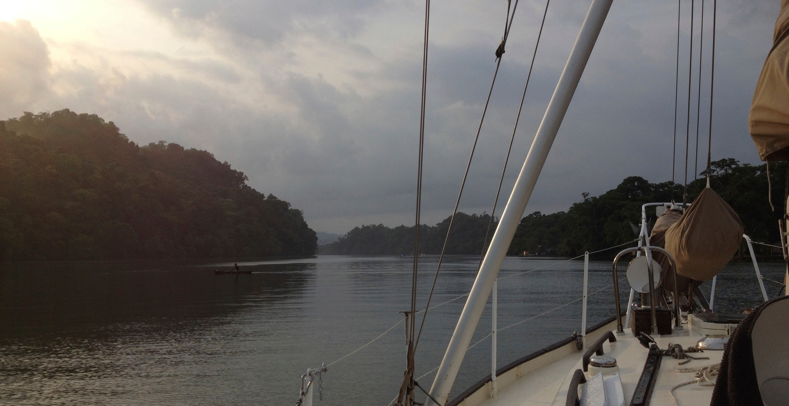 Sailing the river out of Guatemala is so beautiful!