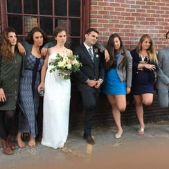 Hip wedding party
