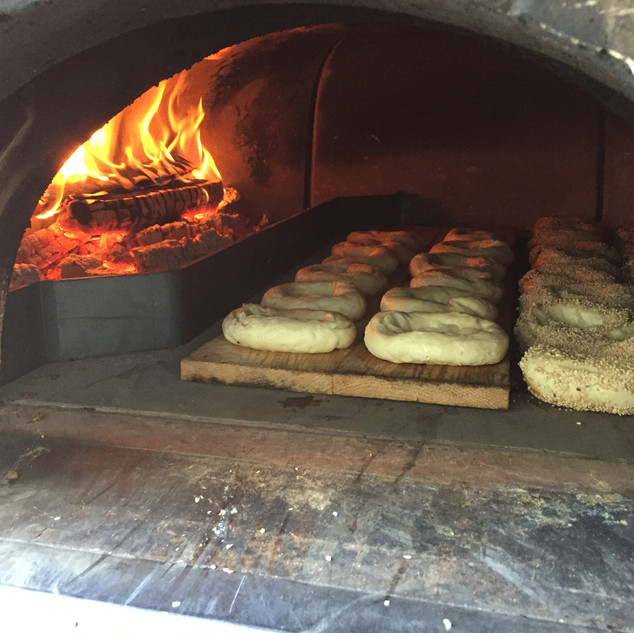 Baking Wood Fired Bagels