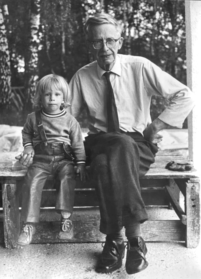 Nikolai and his grandfather Justus Riese