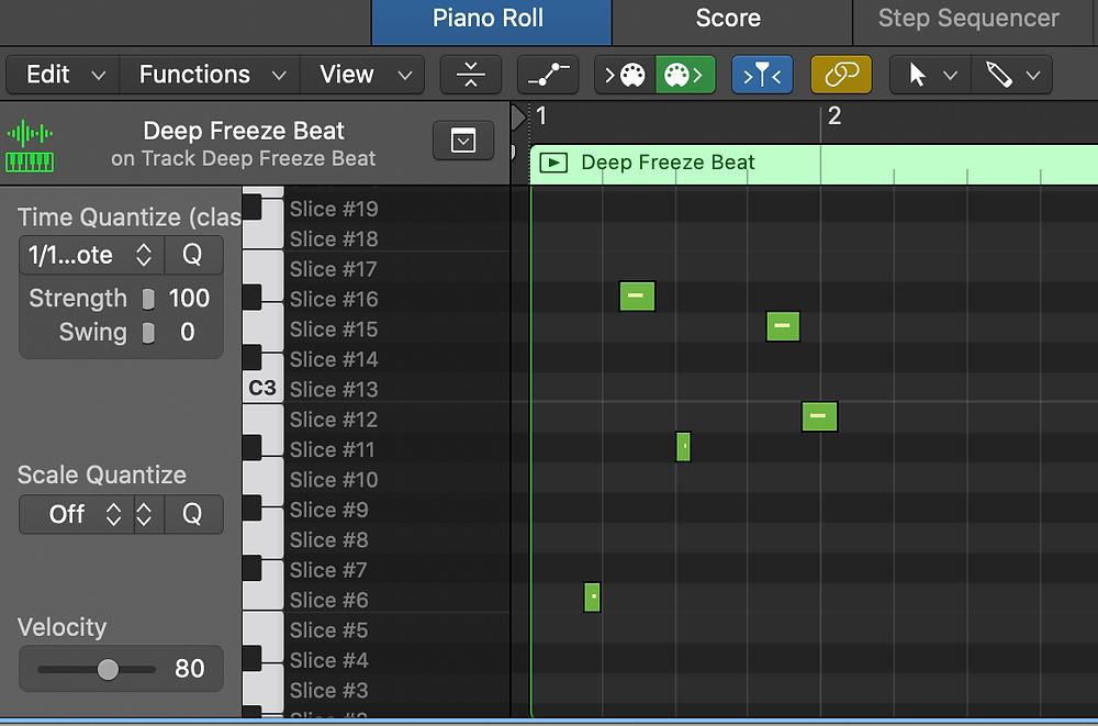 Piano Roll Logic Pro X