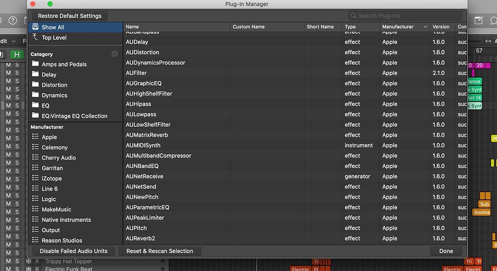Logic Pro X Plugin Manager