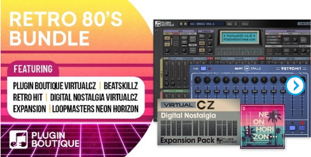Retro 80s plugin bundles from plugin boutique with audio samples