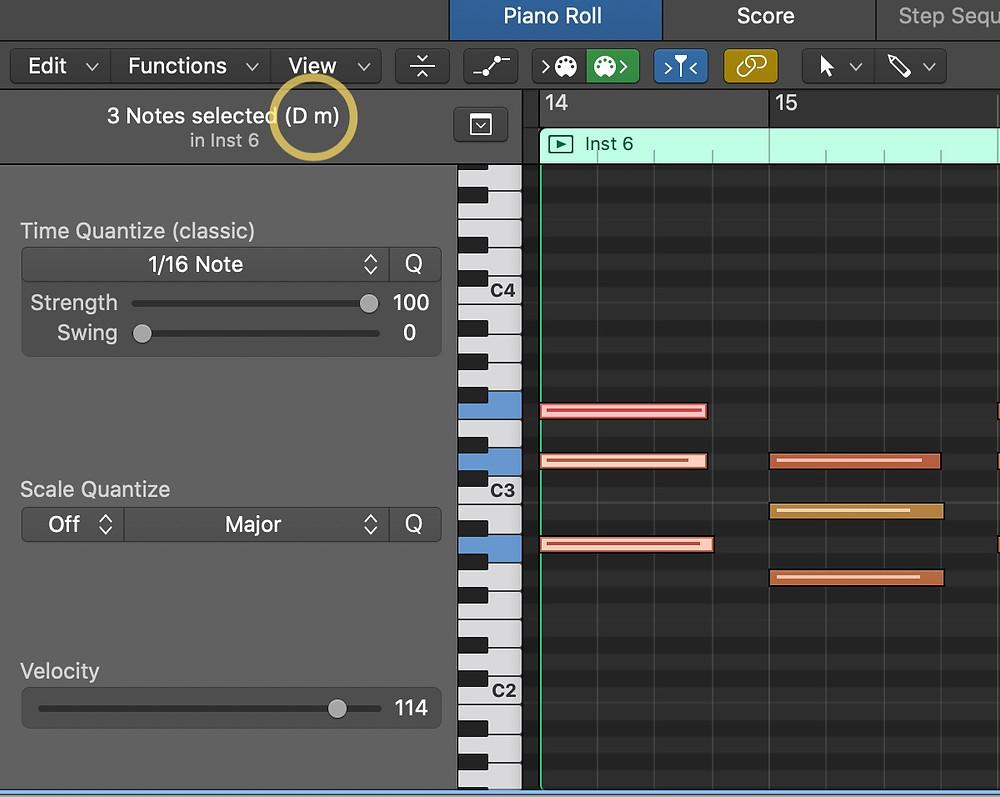 Chord Symbols Piano Roll Logic Pro X