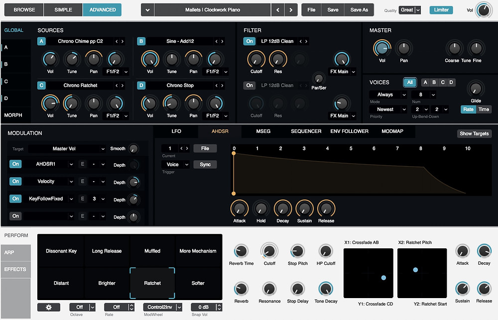 Logic's Alchemy software synthesizer engine