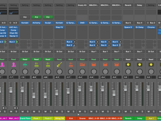 Sends, Busses, and Aux Tracks in Logic Pro X
