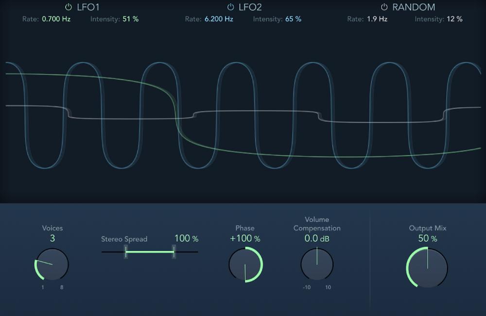 Ensemble effect in Logic Pro X