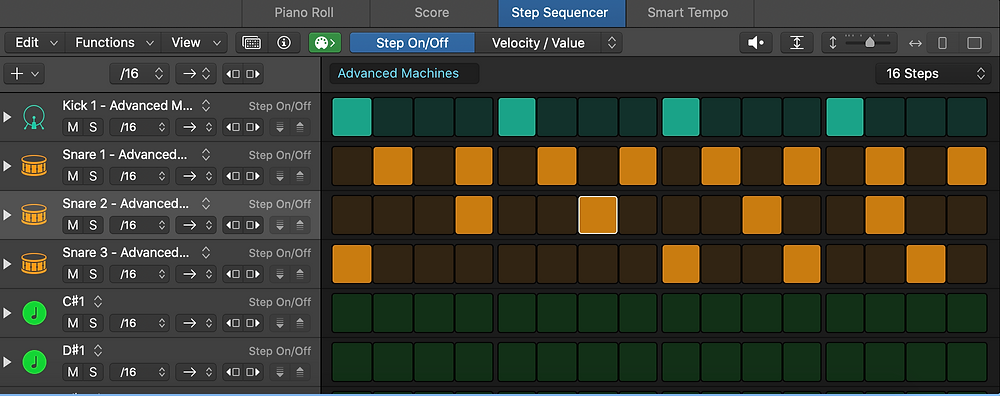 Logic 10.5 new step sequencer