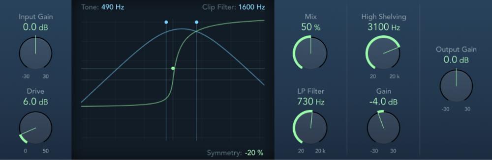 clip distortion in Logic Pro X