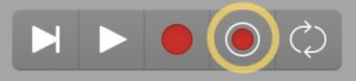 Capture Recording Button Logic Pro X