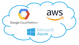 Microsoft Azure, Google Cloud Platform, Amazon Web Services
