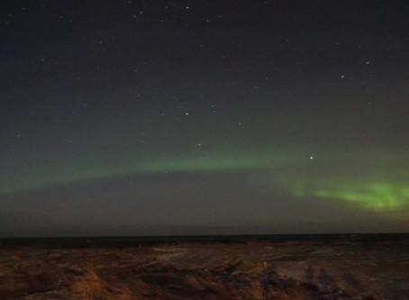 アイスランドでオーロラ見えた!