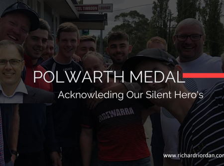 Richard Riordan MP Calls For Polwarth Medal Nominations 2020.