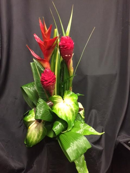 Tropical and exotic flower arrangements