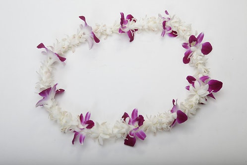 ORCHIDS AND TUBAROSE LEI
