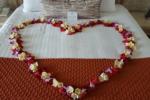ROSE PETALS HEART SHAPE FOR BED