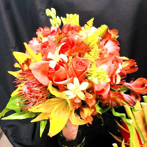 A Pretty Peachy Peach Flower Arrangement