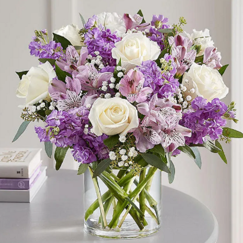 Medley of Lavender and White Blooms