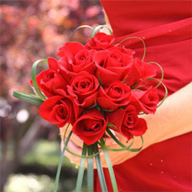 Red Rose hand Tied Bridal Bouquet