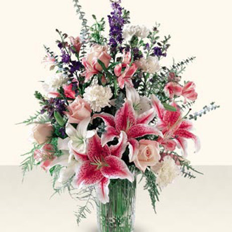 Stargazer Lily Bouquets With Spring Flowers