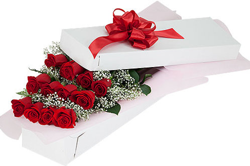 Our Signature One Dozen Red Rose Box