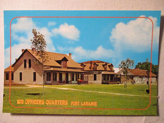Officer's Quarters Postcard
