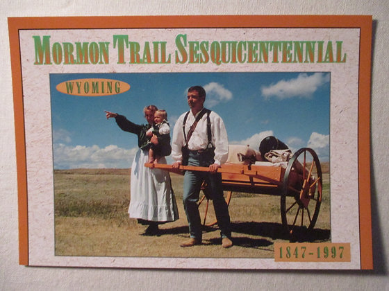 Mormon Trail Sesquicentennial Postcard