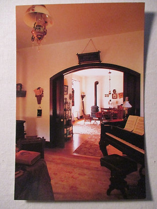 Burt House Interior Postcard