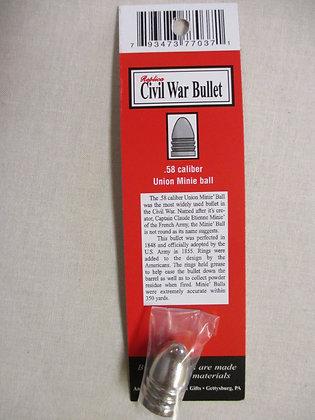 .58 Caliber Civil War Bullet