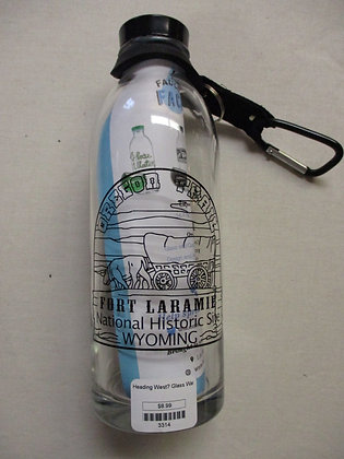 Oregon Trail Glass Water Bottle