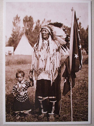 Plenty Coups and Granddaughter Postcard