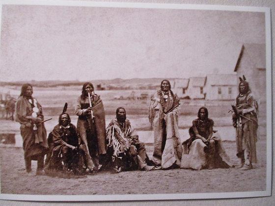 Treaty at Fort Laramie Postcard