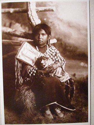 Crow Maiden  Postcard