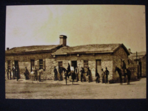 HISTORIC IMAGE OF THE POST TRADERS STORE AND POST OFFICE