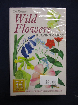 PLAYING CARDS THE FAMOUS WILD FLOWERS